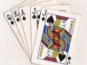 A Euchre hand consisting of the five highest cards in play (with spades as the trump suit): Jack of Spades, Jack of Clubs, Ace of Spades, King of Spades, and Queen of Spades