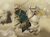 A Japanese print depicting General Kuropatkin at the Battle of Liaoyang