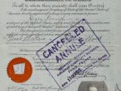 Ezra Pound United States Passport marked canceled.