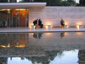 The Barcelona Pavilion. Built by Ludwig Mies van der Rohe in 1929 for the Universal exhibition. reconstruction 1983–1989
