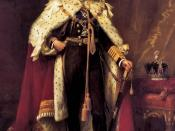 George V in coronation robes.