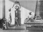 Measuring gravity with an invariable pendulum, Madras, India, 1821
