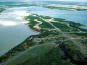 Proctor Lake, Texas, constructed by the Corps of Engineers to provide flood control, drinking water, and recreation