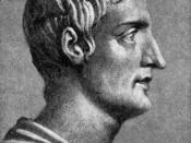 English: Drawing of the Roman historian by an unknown illustrator, based on an antique bust. (reference) Original caption: TACITUS, THE HISTORIAN / This great man was one of the chief ornaments of the reigns of Vespasian and later emperors. His friendship