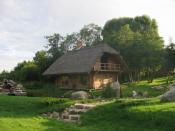 In Padvarai near Kretinga, close to Palanga Esperanto: En Padvarai ĉe Kretinga, proksime de Palanga