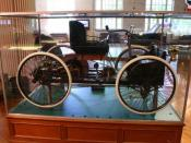 1896 Ford Quadricycle photographed at The Henry Ford Museum in Dearborn, Michigan, by Douglas Wilkinson for www.Ford-Archives.com, part of the www.Automobile-Archives.com. Copyright 2006 www.automobile-archives.com