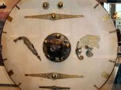 English: Shield from the Sutton Hoo ship-burial 1, England. Reconstruction. Deutsch: Rundschild aus der Schiffsbestattung 1 von Sutton Hoo, England. Rekonstruktion.