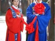 English: Traditional Chinese wedding attire