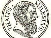 English: Thales of Miletus (Θαλῆς ὁ Μιλήσιος (pronounced /ˈθeɪliːz/ or