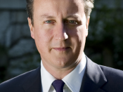 English: David Cameron's picture on the 10 Downing Street website