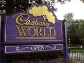 English: Sign outside Cadbury World, Bournville, Birmingham, England.
