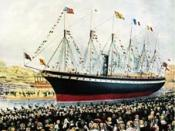 Launch of the SS Great Britain, the revolutionary ship of Isambard Kingdom Brunel, at Bristol in 1843 This picture is the copyright of the Lordprice Collection and is reproduced on Wikipedia with their permission.