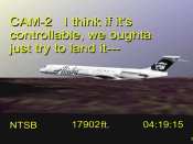 English: National Transportation Safety Board image of Alaska Airlines Flight 261 - It is a still of This video
