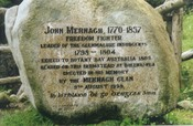 Monument to John Murnagh in Glenmalure