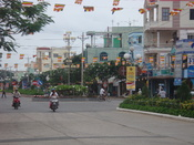 English: The Hung Vuong Street in Sa Dec Town