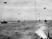 Normandy Invasion, June 1944 A convoy of Landing Craft Infantry (Large) sails across the English Channel toward the Normandy Invasion beaches on