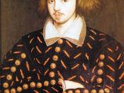 The portrait supposedly of Christopher Marlowe found during renovations of the Masters Lodge