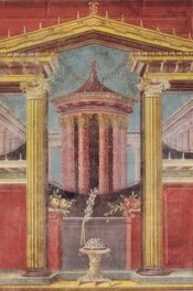 Fresco from the villa of Publio Fannio Sinistore in Boscoreale, currently located in the Metropolitan Museum of Art, New York, 43-30 BCE.