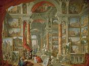 English: Modern Rome by Giovanni Paolo Panini. Oil on canvas; 172.1 x 229.9 cm.