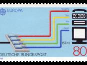 English: Europa postage stamps, transport and communication Deutsch: Europamarke, Transport und Kommunikation :*Graphics by Jünger :*Ausgabepreis: 80 Pfennig :*First Day of Issue / Erstausgabetag: 5. Mai 1988 :*Michel-Katalog-Nr: 1368