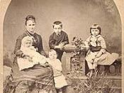 Writer Kate Chopin and her sons Frederick, George, Jean, and Oscar, in New Orleans, 1877.