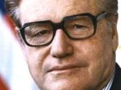 The official photograph of Vice President Nelson Rockefeller released by the White House.