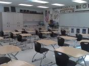 English: Social Studies classroom at Port Charlotte High School. American Government class is taught here. This is also where the Fellowship of Christian Athletes meets because the teacher who uses this classroom is also the FCA sponser.