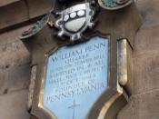 William Penn memorial at All Hallows Church, labeled as