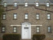 Curtis Hall dormitory. J.D. Salinger lived on the third floor during his time at Ursinus
