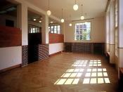 Inside view of Adolf Loos designed functionalist villa, Prague