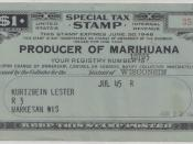 United States Special Tax Stamp -- Producer of Marihuana -- July, 1945. It was probably related to the U.S. Hemp for Victory campaign, which allowed production of hemp for the U.S. WWII effort. Transferred to Commons from English Wikipedia.