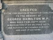 George Hamilton tombstone, Hamilton Cemetery, City founder of Hamilton, Ontario