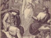 Telemachos im Palast von Menelaos