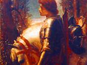 Norsk (bokmål): Sir Galahad, detalj fra et maleri av George Frederic Watts