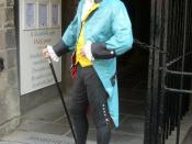 English: Brodie advertising figure in Edinburgh's High Street