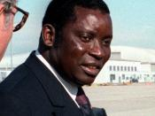 President Gnassingbe Eyadema of Togo departs after a state visit.