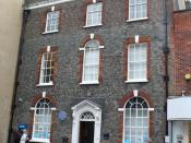 English: Thomas Hardy Locations, The Mayor of Casterbridge(2) This is Barclays Bank in South St Dorchester and in the novel Hardy made this the house of Henchard who sold his wife, came to Casterbridge, made a lot of money and became mayor and then lost i
