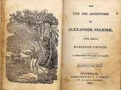 Title page of the book The Life and Adventures of Alexander Selkirk, the Real Robinson Crusoe (1835)