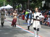Front: Young Obi-Wan Kenobi in Clone Trooper Armor, Rear Left: Random Jedi, Rear Middle: Princess Leia Organa in Slave Costume, Rear Right: Rebel infantryman