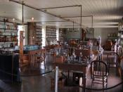 Upstairs at Thomas Edison's Menlo Park Laboratory (removed to Greenfield Village) Note the organ against the back wall.