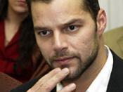 Pop singer Ricky Martin