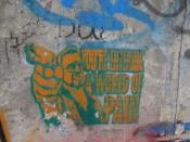 English: Graffiti of Walter Sobchak (John Goodman) from the Big Lebowski on the East Side Gallery of the Berlin Wall.
