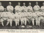 The 1910 Pelicans, Southern Association Champions. #12, Shoeless Joe Jackson, was about to go on to fame in the majors.