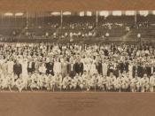 1916 Chicago White Sox Team Panoramic Photograph. Mount is embossed with the details: