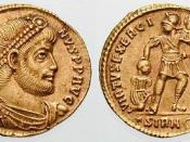 Julian solidus, ca. 361, from Sirmium mint