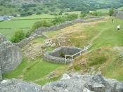 English: The main courtyard of Castell y Bere, Wales. Taken by Necrothesp, 28 June 2005.
