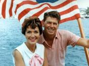 Ronald Reagan and Nancy Reagan aboard an American boat in California, 1964.