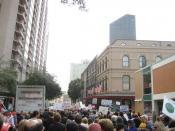 March against violent crime, New Orleans Central Business District.