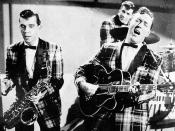 English: Bill Haley and his Comets during a TV-appereance. Deutsch: Bill Haley and his Comets während eines Fernsehauftrittes.