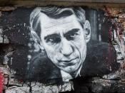 Claude Shannon, painted portrait - la théorie de l'information - thierry Ehrmann _1010215